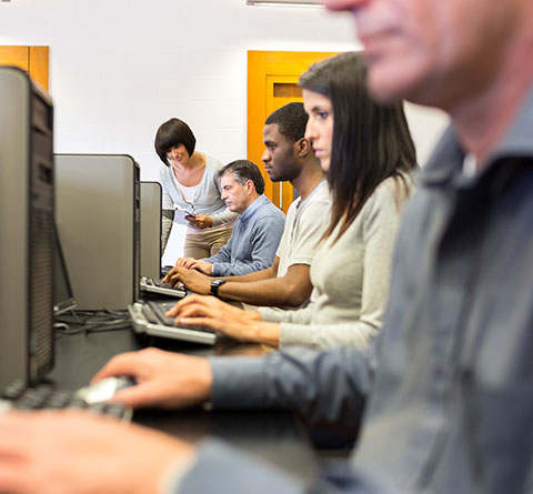 People Using Computer Lab