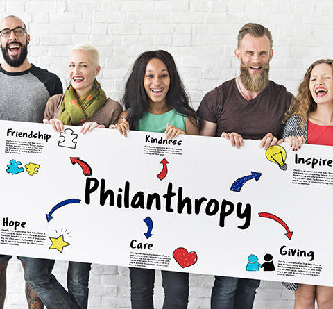 Group Holding Philanthropy Sign